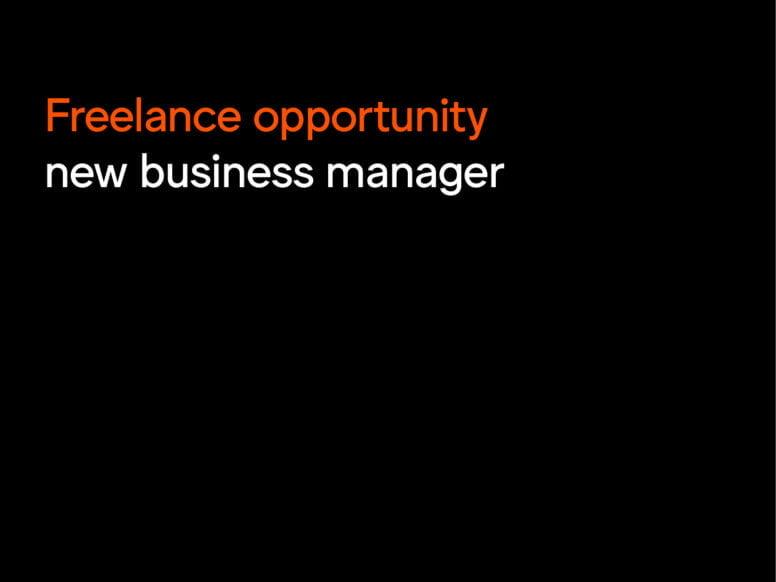Freelance opportunity